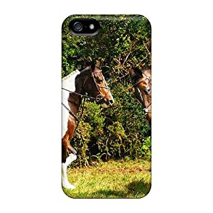 [ZQduX7508OFqWs]premium Phone Case For Iphone 5/5s/ The Horse Riders Tpu Case Cover