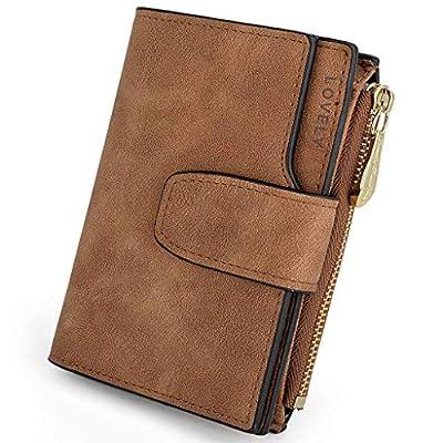 UTO RFID Wallet for Women Blocking Tech PU Matte Leather Card Zipper Holder Coin Purse Small Version