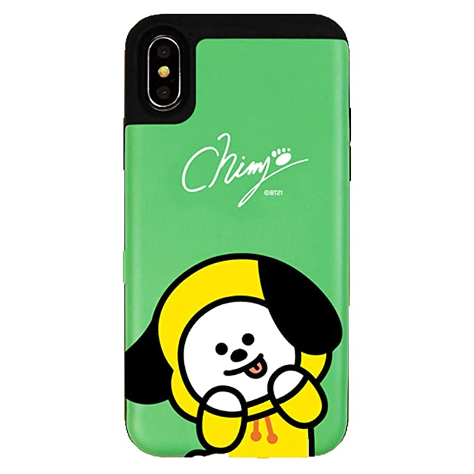huge selection of 480b6 d4f4b Amazon.com: iPhone XR Case, BTS BT21 Official Card Bumper Phone Case ...
