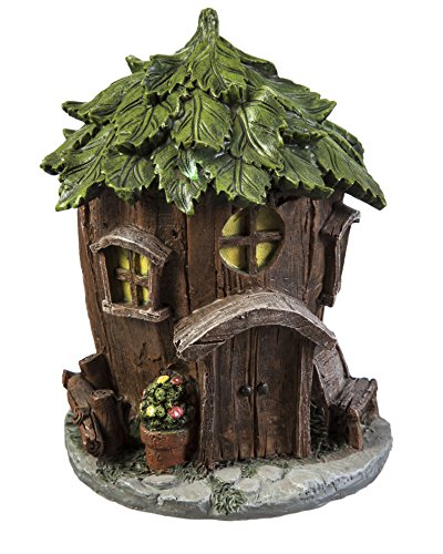 Evergreen Garden New Creative Outdoor-Safe Mini Garden Polystone Fairy Houses, Set of 4-5.5'' W x 5.75'' D x 6.75'' H by New Creative (Image #4)