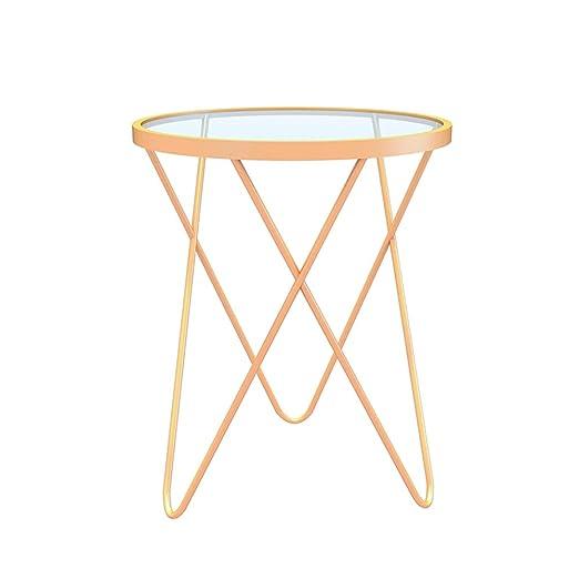 Table Mesa HAIZHEN para Ordenador de Hierro Forjado, Cristal ...