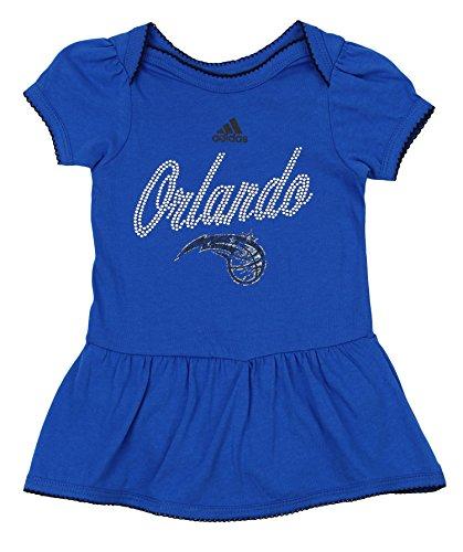 - adidas NBA Infant's Orlando Magic Dazzled Onesie Dress, Blue 24 Months