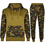 Kids Boys Girls Unisex Plain Casual Tracksuit Sweat Pants & Hoodie Set (7-8 Years, Army Green)