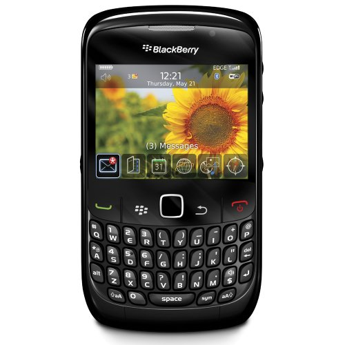 | BlackBerry 8520 Unlocked Phone with 2 MP Camera, Bluetooth, Wi-Fi-International Version with No Warranty (Black)