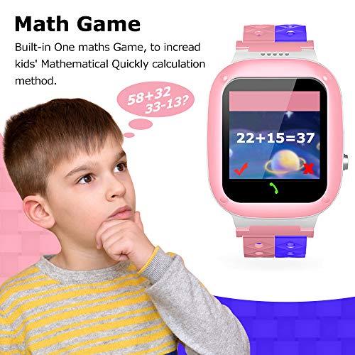 YENISEY Kids Waterproof Smart Watch,Children Phone IP67 Waterproof Smartwatch,Upgrade Touchscreen Smartwatchs,LBS Tracker SOS Anti-Lost Remote Camera Monitoring,Puzzle Game Watch for Girl Boy