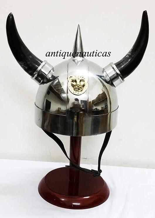 Shiv Shakti Enterprises Casco Medieval de Vikingo con Brazo de ...