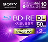 Sony Blu-ray Rewritable Disc   BD-RE 50GB DL 2x Ink-jet Printable 10 Pack   10BNE2VGPS2 (Japanese Import)