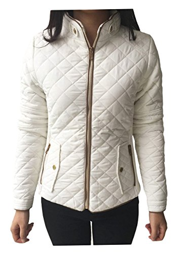 white quilted jacket - 5