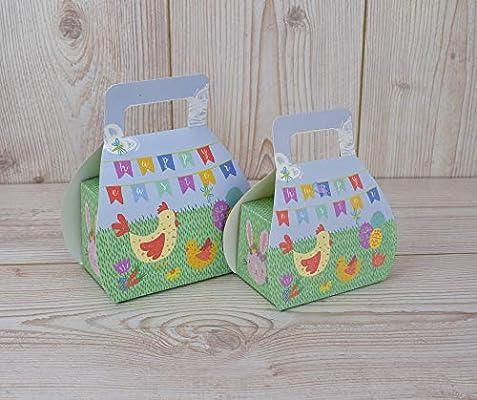 Pascua plegable bolsa caja de dulces – Pack de dos: Amazon.es ...