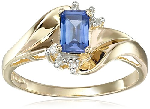 Yellow Emerald Gemstone Diamond Accent product image