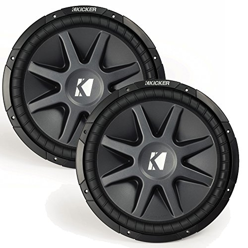 "Kicker 15"" CVR package - TwoKicker 10CVR152 15 Inch CompVR Series Dual Voice Coil Subwoofers"