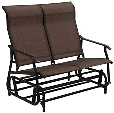 Ku0026A Company Double Patio Glider Rocking Armchair Garden Outdoor Chair  Lounge Bench Loveseat Couple Soft Beach