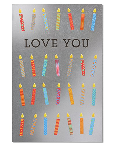 American Greetings Love You Candles Birthday Greeting Card with Foil