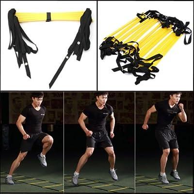 Generic 6 metre 12-escalones de velocidad y agilidad de fútbol de Fitness escalera pisada de balón de fútbol<1&1666*3>: Amazon.es: Electrónica