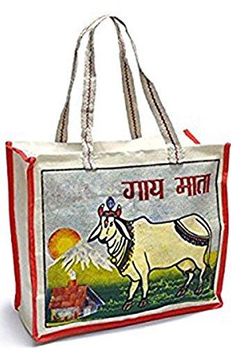 de cm 33 15 en x Sac Modèle 40 indien Dimensions sacrée toile x vache cabas coton ZFnHqI1w