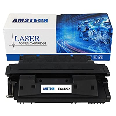 1 Pack Amstech 10,000 Pages High Yield Compatible Toner Cartridge Replacement For 27X C4127X C4127 C4127A 27A Used for LaserJet 4000 4000N 4000SE 4000T 4000TN 4050 4050N 4050DN 4050T Printer (Black)