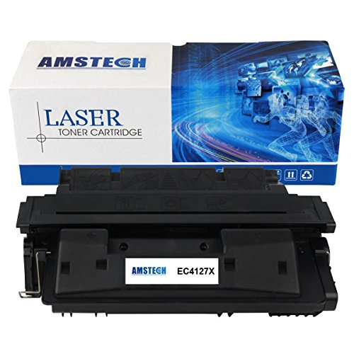 1 Pack Amstech 10,000 Pages High Yield Compatible Toner Cartridge Replacement For HP 27X C4127X C4127 Used For HP LaserJet 4000 4000N 4000SE 4000T 4000TN 4050 4050N 4050DN 4050T 4050SE Printer (Black)