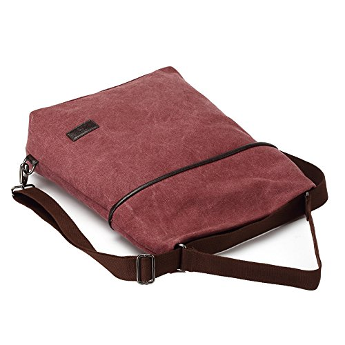 MOLLYGAN Multi-purpose Canvas Shoulder Bag Backpack School Bag Khaki by MOLLYGAN (Image #3)