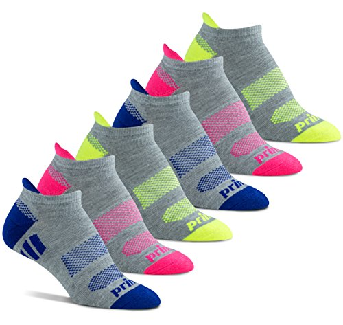 (Prince Women's Tab Performance Athletic Socks for Running, Tennis, and Casual Use (6 Pair Pack) (Women's Shoe Size 6-10 (US),)