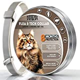 LOVATIC Cats Flea and Tick Collar - 8-Month Flea Treatment Cat Collar - Hypoallergenic - Adjustable & Waterproof Tick Prevention - Natural Essential Oil Extracts