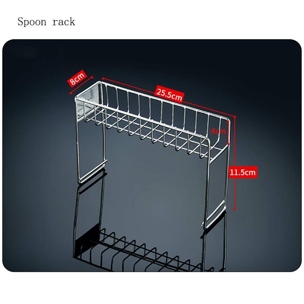 Stainless steel Housewares Under Shelf Storage Basket, kitchen shelf storage,39~45.5 cm (Size : B) by Guoqing (Image #3)