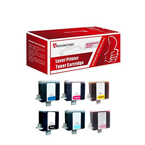 Bci 6 Six Pack - AwesomeToner 6 PK BCI-1411BK BCI-1411C BCI-1411M BCI-1411Y BCI-1411 LC BCI-1411 LM Compatible Ink cartridge for Canon W7200 W8200 High Yield 330ml