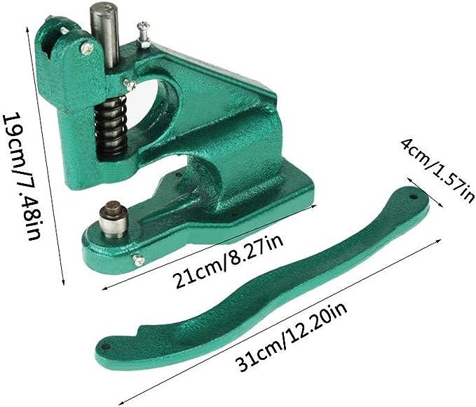 GOTOTOP Handpresse,/ösenpresse mit DREI S/ätze Matrizen 6 mm 10 mm und 12 mm mit 1500 x /Ösen