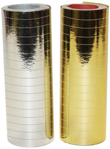 Party - Metallic Silver (1) & Gold Serpentine (1) Rolls 4mm x 7mm