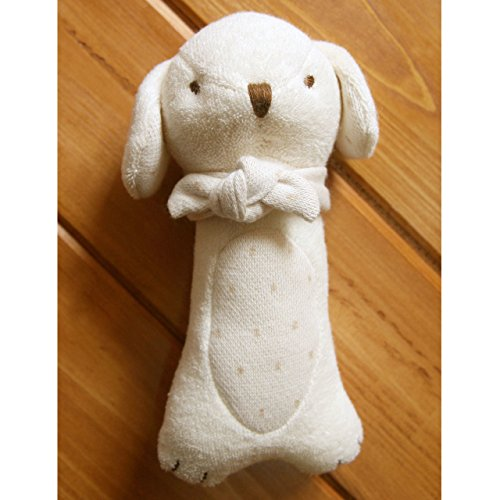 100% Certified Organic Cotton Baby Puppy Rattle (No Dyeing Natural Organic Cotton) ...