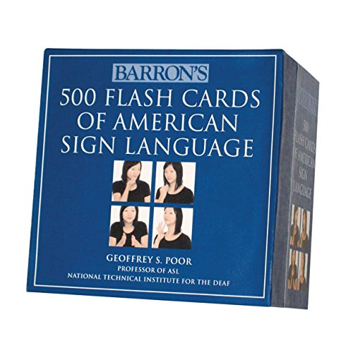 500 Flash Cards of American Sign Language- Boxed Set