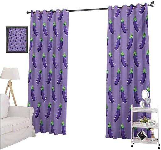 Amazon Com Yuazhoqi Eggplant Bedroom Blackout Curtain Panels Appetizing Eggplants In Order Symmetrical Vegan Foods Healthy Fresh Ingredients 2 Panels W52 X L108 Blackout Curtains For Living Room Home Kitchen