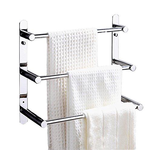 (ximeiyangweiyu Bathroom Shelves Towel Bar Bath Storage Hanging Organizer 16-Inch Contemporary Hotel Style Wall Mount, Polished Finish)