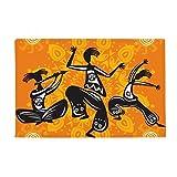 Dance People Mexico Totems Mexican Anti-slip Floor Mat Carpet Bathroom Living Room Kitchen Door 16''x30''Gift