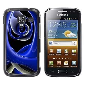 TopCaseStore / la caja del caucho duro de la cubierta de protección de la piel - Abstract Blue - Samsung Galaxy Ace 2 I8160 Ace II X S7560M