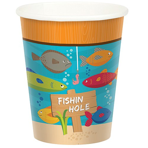 Gone Fishin' Birthday Party Cups