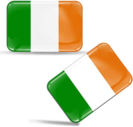 2 X Stickers 3d Gel Silicone Stickers Ireland Flag Car Motorcycle Bicycle Window Pc Mobile Phone Tablet Laptop F 28 Auto