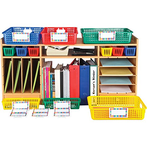 Office Supply Station With Baskets and Labels by Really Good Stuff