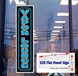 LED flat panel Light Box Sign Vapor Lounge 48''x12'' Window Sign