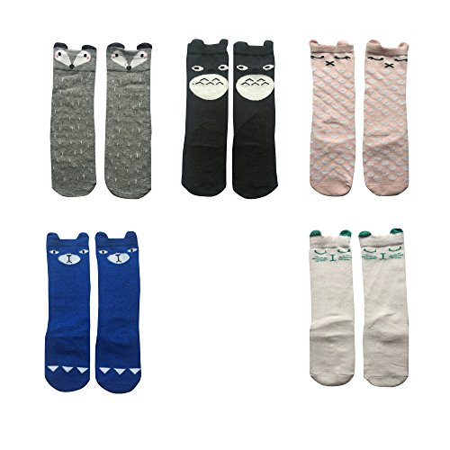 CZCCZC Baby Toddler Non-skid Anti Slip Skid foot Socks Baby Footsocks Sneakers (Style 9(5 Pairs))