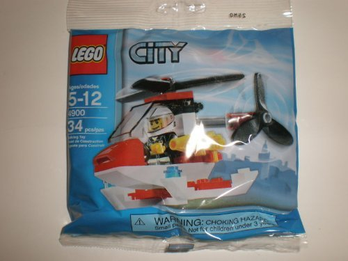 LEGO City 4900 - Fire Helicopter Mini Figure Set
