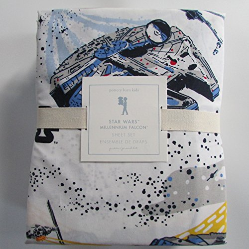 Pottery Barn Kids STAR WARS: MILLENIUM FALCON Sheet Set ~*Queen*~