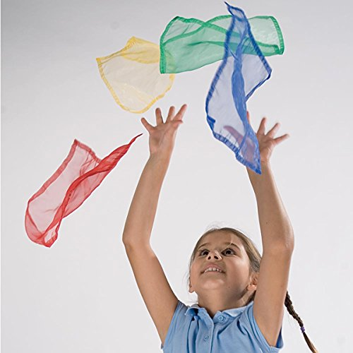 Kids Juggle Scarf Childrens Fun Juggling Training Scarves Pack Of 3 Assorted by Sportsgear US