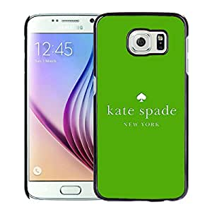 New Fashion Custom Designed Kate Spade Cover Case For Samsung Galaxy S6 Black Phone Case 236