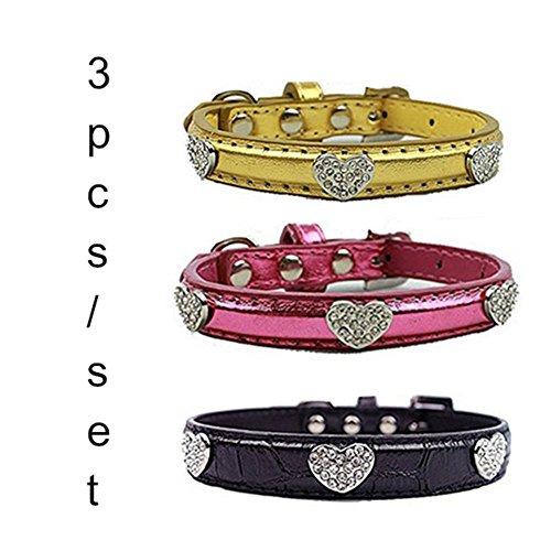 BINGPET personalized Rhinestone diamond Leather