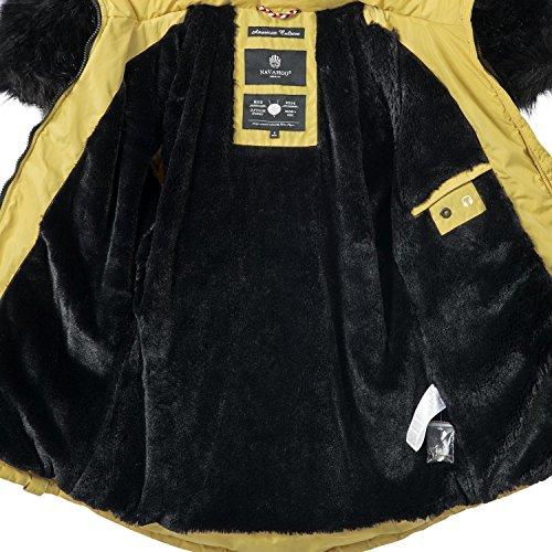 XS Colores Capucha Nirvana Mujer sintético de Pelo de Navahoo Chaqueta 7 Invierno para con Amarillo Negro XXL 6O4qO1Awx