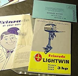 1957 vintage evinrude lightwin 3 outboard owners manual new rh amazon com