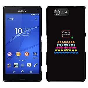 // PHONE CASE GIFT // Duro Estuche protector PC Cáscara Plástico Carcasa Funda Hard Protective Case for Sony Xperia Z3 Compact / Computer Game Colorful Black /