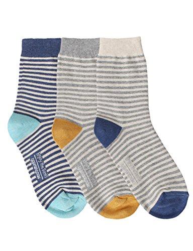 OSABASA Womens Fashion Cotton Crew Socks With Various Printing(KWMS0392-SET1)