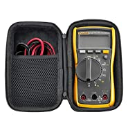 HESPLUS Case for Fluke 117/116 / 115/114 Digital Multimeter Meter Case,Shockproof Water-resistant EVA Hard Shell with Inner Pocket for Meter Test Leads