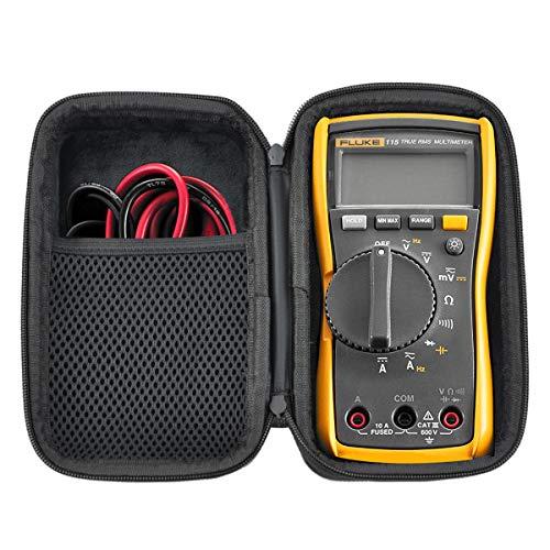 HESPLUS Case for Fluke 117/116 / 115/114 Digital Multimeter Meter Case,Shockproof Water-resistant EVA Hard Shell with Inner Pocket for Meter Test Leads